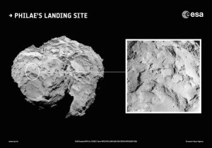Philae's primary landing site from ESA